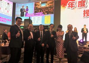 4.總裁陳威中(左2)與榮譽總會長及總會長合照